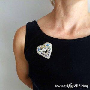 Silver Light ✨ Beaded Brooch